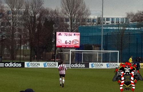 Ajax B1 - PSV B1 (6-2)